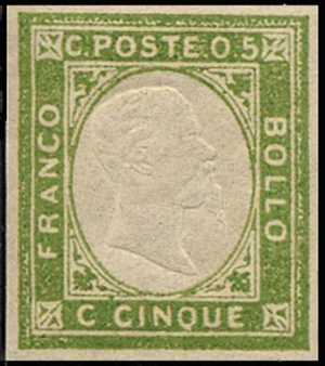 1861 - Effige di Vittorio Emanuele II in rilevo - non emessi