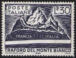 Inaugurazione del traforo del Monte Bianco - L. 30