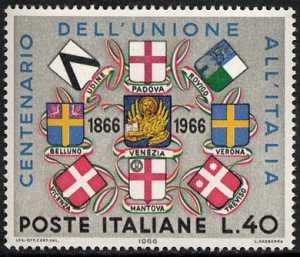 Centenario dell'Unione del Veneto e del Mantovano all'Italia - L. 40