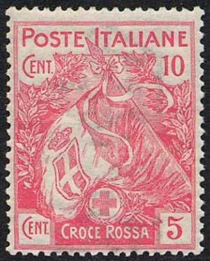 1915 - Pro Croce Rossa - Bandiera italiana