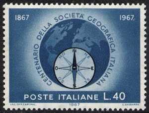 Centenario della Società Geografica Italiana - L. 40