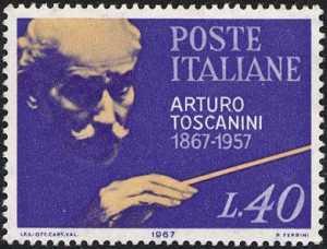 Centenario della nascita di Arturo Toscanini - ritratto del musicista