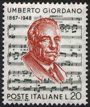 Centenario della nascita di Umberto Giordano - spartito dall'Andrea Chenier