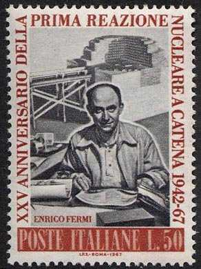 25° Anniversario della 1ª reazione nucleare a catena - Enrico Fermi