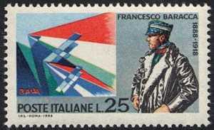 Cinquantenario della morte di Francesco Baracca - L. 25