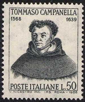 4° Centenario della nascita di Tommaso Campanella - ritratto del filosofo