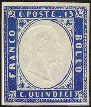 1863 - Effige di Vittorio Emanuele II, in rilievo