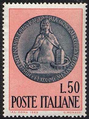 Centenario della Ragioneria Generale dello Stato - medaglione di G. Monassi