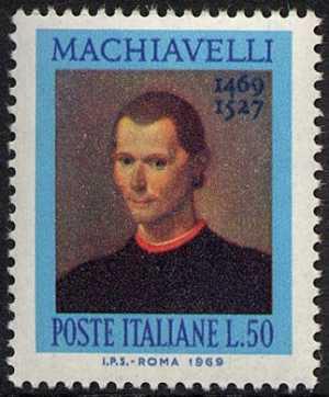 5° Centenario della nascita di Niccolò Macchiavelli - ritratto