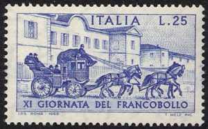 XI Giornata del Francobollo - Diligenza postale del 1903