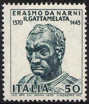 6° Centenario della nascita di Erasmo da Narni detto 'il Gattamelata' - scultura del Donatello