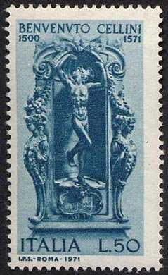 4° Centenario della morte di Benvenuto Cellini - statua di Mercurio