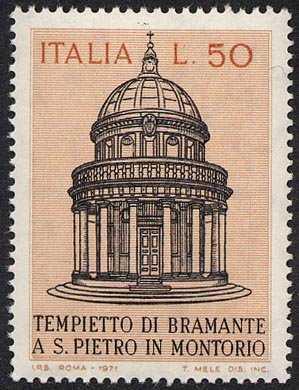 Tempietto di S. Pietro in Montorio a Roma - Opera del Bramante - L. 50