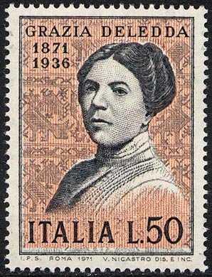 Centenario della nascita di Grazia Deledda - ritratto della scrittrice