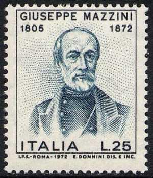 Centenario della morte di Giuseppe Mazzini - L. 25