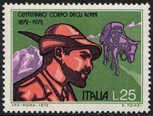 Centenario della fondazione del Corpo degli Alpini - L. 25