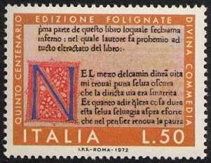 5° Centenario delle prime tre edizioni della Divina Commedia - edizione di Foligno