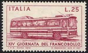 XIV Giornata del Francobollo - autocorriera postale