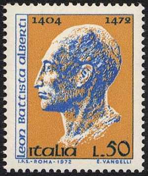 5° Centenario della morte di Leon Battista Alberti - bronzo di Matteo de' Pasti