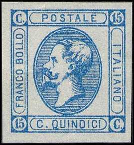 1863 - Effige di Vittorio Emanuele II, a sinistra