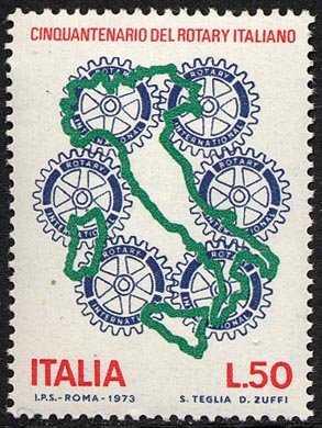 Cinquantenario del Rotary Italiano - L. 50