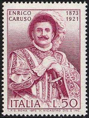 Centenario della nascita di Enrico Caruso - nei panni del 'Rigoletto'