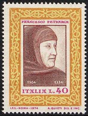 Centenario della morte di Francesco Petrarca - affresco dell' Altichiero - Padova, Basilica del Santo