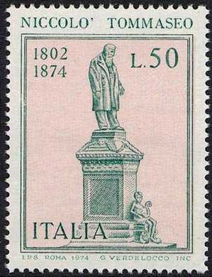 Centenario della morte di Niccolò Tommaseo - statua del poeta e patriota