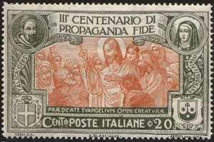 1923 - 3° Centenario della Congregazione di Propaganda Fide