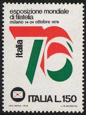 Propaganda dell'Esposizione mondiale di filatelia 'Italia ' 76' - logo