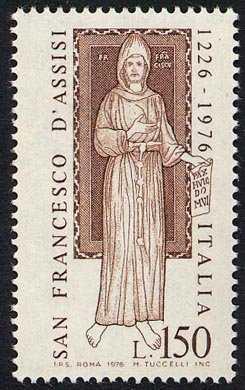 750° Anniversario della morte di S. Francesco di Assisi - L. 150