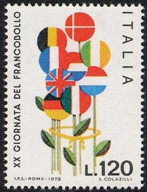 XX Giornata del Francobollo - bozzetto di Colazilli