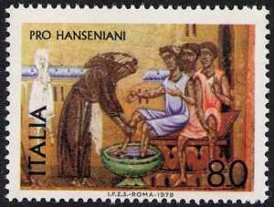 Pro hanseniani  - San Francesco e i malati - Maestro di Francesco Bardi