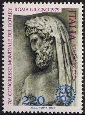 Primo Congresso mondiale del Rotary in Italia - 'Enea' - bassorilievo
