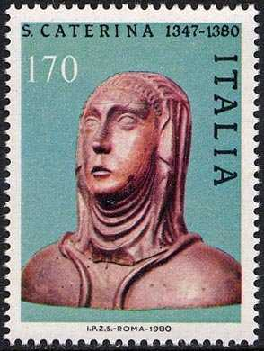 6° Centenario della morte di Santa Caterina da Siena , patrona d'Italia- L. 170