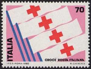 1ª Mostra internazionale del francobollo della Croce Rossa - L. 70