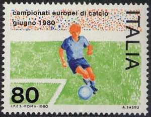 Campionati europei di calcio - disegno di Aligi Sassu