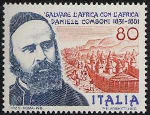 150° della nascita e 100° della morte di Daniele Comboni - ritratto del missionario
