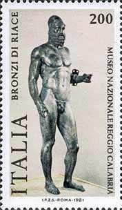 """"""" Bronzi di Riace """" - guerrieri greci - V° sec. - Museo di Reggio Calabria"""