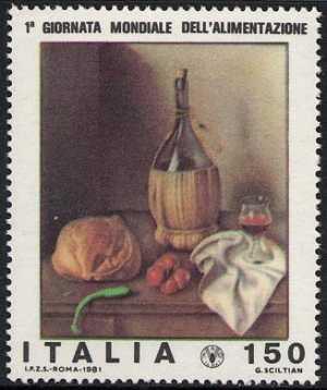 1ª Giornata mondiale dell'alimentazione - 'Natura morta' , Sciltian