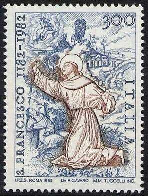 8° Centenario della nascita di S. Francesco di Assisi - affresco XVI sec. - Oristano
