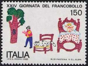 XXIV Giornata del francobollo - disegno di M. di Pastena
