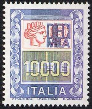 «Alti valori » - Italia turrita e cifra - L. 10000
