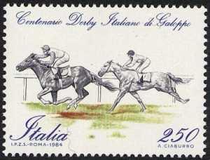 Centenario del derby italiano di galoppo - L. 250