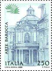« Italia '85 » - Esposizione mondiale di filatelia - 4ª serie - Arte barocca a Roma - Chiesa S. Maria della Pace