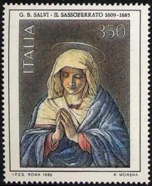 Arte italiana - 11ª serie - G.B. Salvi detto il Sassoferrato : 'Madonna orante'