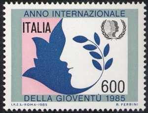 Anno internazionale della Gioventù - L. 600