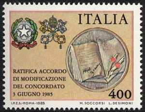 Ratifica dell'accordo di modifica del Concordato - L. 400