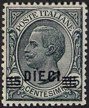 1924 - francobolli del 1901-1923 soprastampati con nuovo valore