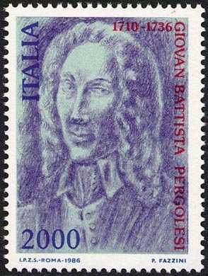 250° Anniversaio della morte di Giovan Battista Pergolesi - Ritratto del compositore